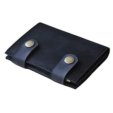 Portefeuille en cuir pour homme ou femme. Support de carte, clip d'argent, étui de voyage, étui à carte
