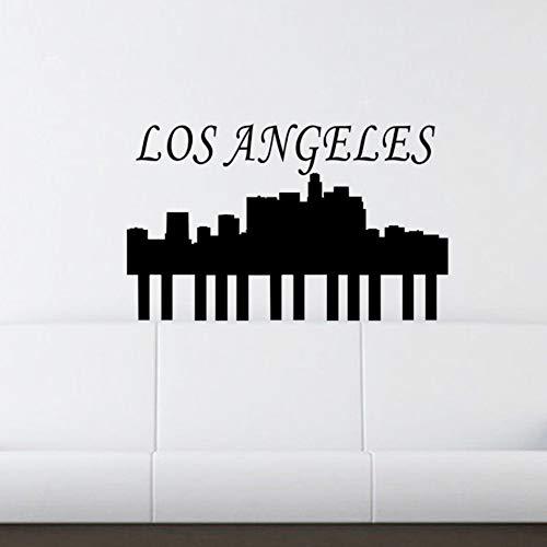 Fushoulu 27X44CmLos Angeles Skyline Wall Stickers Home Decor Soggiorno Rimovibile Wall Stickers Vinyl