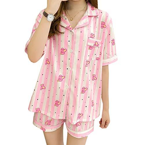 Skisneostype BTS Sommer Pyjamas, Kpop Bangtan Jungen Shorts + T-Shirt Nachtwäsche Set für The Army(M Cooky) (Jungen Nachtwäsche Holiday)