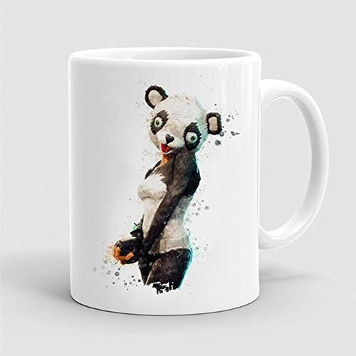 g Panda Team Leader Outfit Mug Game Skin Watercolor Gamer Geek Mug Quote Mug Cup Gift Birthday Gift Funny Ceramic Cup 11OZ ()