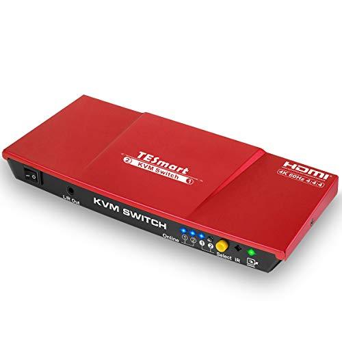TESmart 2x1 HDMI KVM Switch Conmutador 4K 3840x2160@60Hz