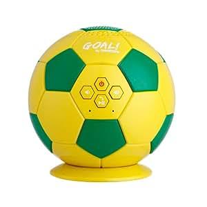 Nesx Ballon de football Brésil Enceinte Bluetooth 3 W RMS Appel téléphonique avec Microphone Jaune