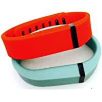 Comparador de precios ! Small S 1pc Teal (Blue/Green) 1pc Red (Tangerine) Replacement Bands + 1pc Free Small Grey Band With Clasp for Fitbit FLEX Only /No tracker/ Wireless Activity Bracelet Sport Wristband Fit Bit Flex Bracelet Sport Arm Band Armband by Pl - precios baratos