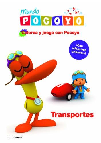Colorea y juega con Pocoyó. Transportes: Libro de actividades con adhesivos (Cuentos y actividades)
