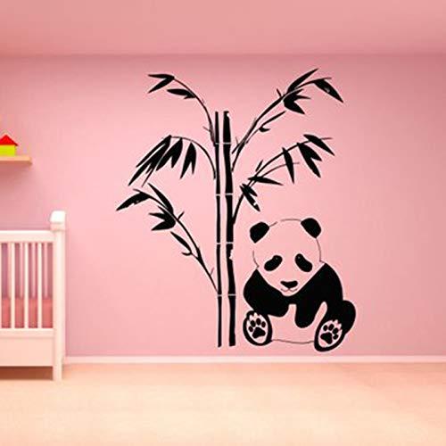 yaonuli Panda Wandtattoos Panda Bär Familie Aufkleber Kunst Dekoration Schlafzimmer Design Bambus Kunst für Familien Schlafzimmer Wohnzimmer 73x63cm