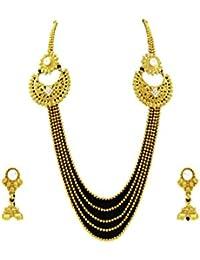 Designer Enclave Alloy Gold Color Necklace Set For Women DE-003