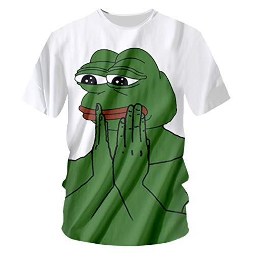 Pepe The Frog 3D Print Herren Sommer Fitness T-Shirt O Neck Kurzarm Pepe The Frog 4XL