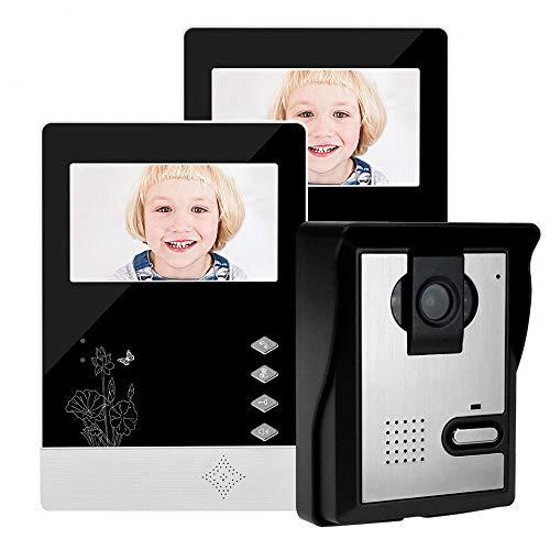 25 Night Vision (Video Türklingel Wired Home Video Door Telefon Intercom Doorbell 4.3inch Infrared Night Vision 25 Ringtones Ip54 Wasserdicht Für Türeinfahrt kombination)