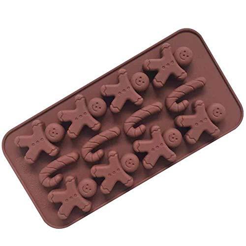 CloudWhisper Silikonform für Kekse, Schokolade, Lebkuchenmann