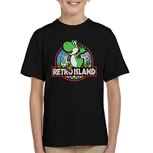 Super Mario Jurassic Retro Park Kid's T-Shirt