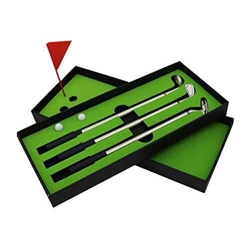 Doolland 3 STÜCKE Mini Golfbälle Spielzeug Tragbare Desktop Golf Kugelschreiber Flagge Geschenk Set -