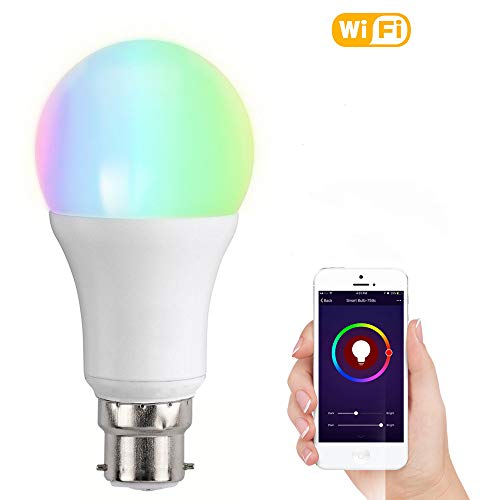 Smart Bulb, MEAMOR Light LED Dimmable 7W RGB Bulb,Work with Alexa and Google Home ,Multicolored Color Changing Wake Up Lights , Party and Decorative Bulbs, Remote Controlled by IOS/Android Devices