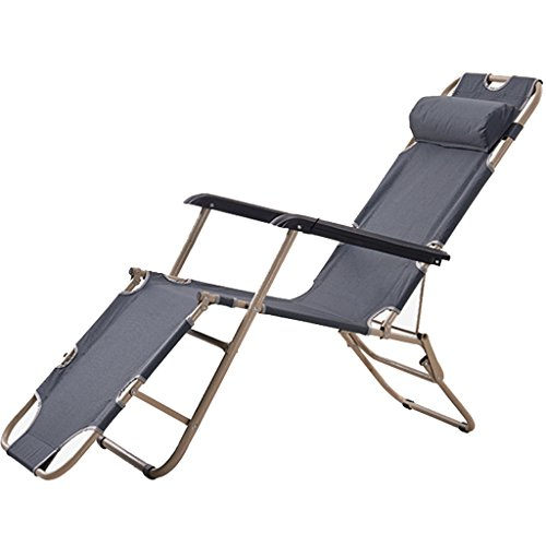 Klappbett Recliners Faltbarer Stuhl Strandstuhl Einzelbett Nickerchen Bett Pflegebett Bett und Stuhl Dual Zweck mit grau Oxford Tuch