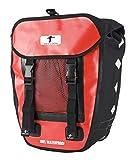 Red Loon Packtasche rot/schwarz wasserdicht Gepäckträgertasche Hecktasche