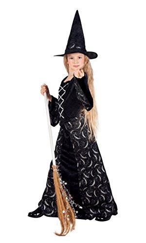 Boland 78032 - Kinderkostüm Mitternachtshexe, Größe 158, schwarz (11 Jährige Kostüme Halloween)