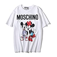 Moschino Mich Minnie Short Sleeve White T-shirt Lady Tee White For Women and Lady