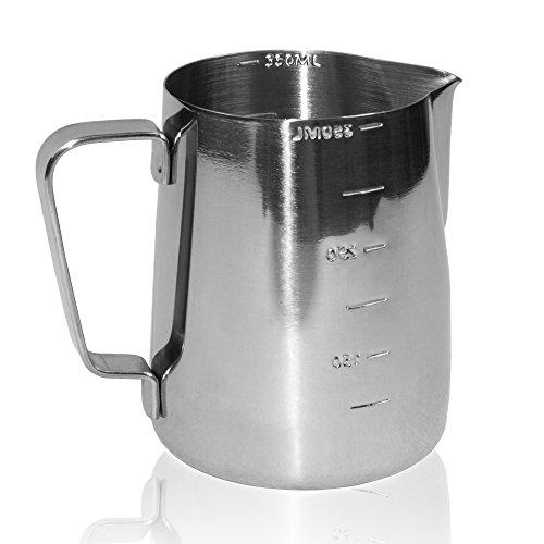 Jarras de leche Joyfork - Acero inoxidable - 550 ml jarra de leche.