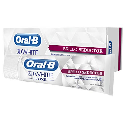 Oral-B 3D White Luxe Brillo Seductor, Pasta Dentífrica, 75 ml, Paquete de 4