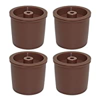 Homyl 4Pieces Plastic and Stainless Steel Filters Refillable Coffee Capsules Pod Cup Basket For Illy Coffee Making Machine