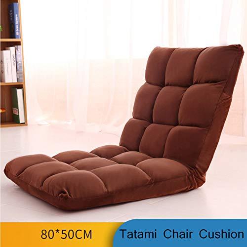 Verstellbar Fußboden Stuhl Mit Rückenlehne, 6-position Gepolsterte Falten Spiele Sofa Sessel Liege,faul Liege Tatami Kissen Für Home-u 80x40cm(31x16inch)