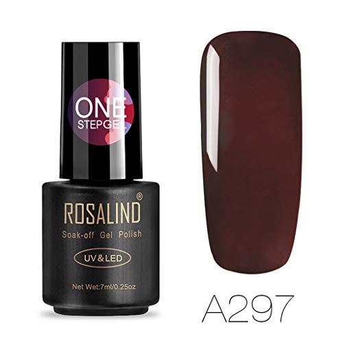 LEEDY Vernis à ongles Glitter Rosalind Date 3 En 1 Gel One Step Gel Ongles 24 Couleurs