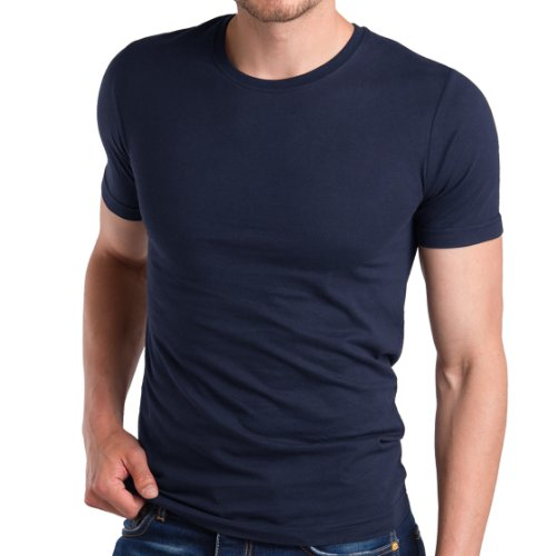 3er Pack Herren Fit T-Shirt Celodoro Exclusive Deep Navy Gr. 4 (S) (Muskel-fit Shirt)