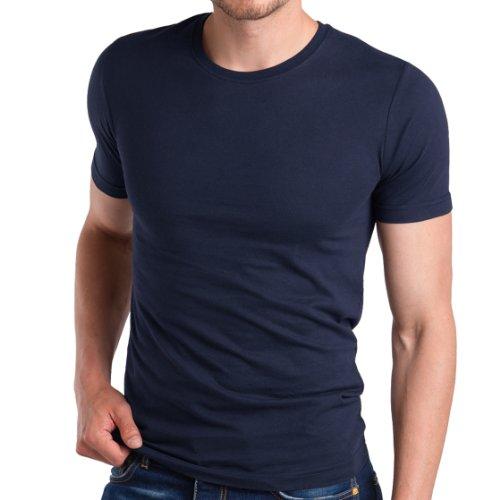 3er Pack Herren Fit T-Shirt Celodoro Exclusive Deep Navy Gr. 4 (S) (Shirt Muskel-fit)