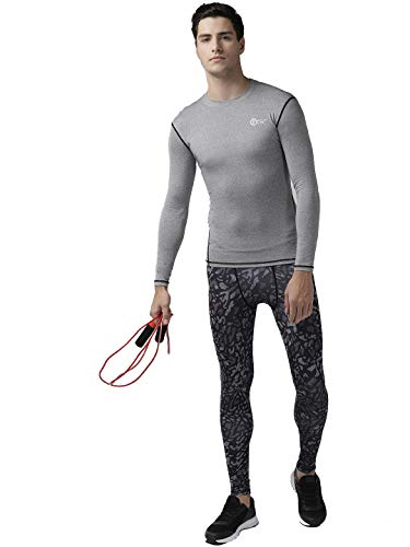 FITUP LIFE Full Sleeve Tshirt Polyester & Spandex Compression - Grey {Size : XXL}