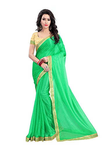SAREES(Women's Clothing Sarees for women latest Green Color Sarees collection in latest Lycra Sarees with designer Blouse Piece free size beautiful bollywood Sarees for women party wear offer designer Sarees with Blouse piece Sarees New Collection)  available at amazon for Rs.199