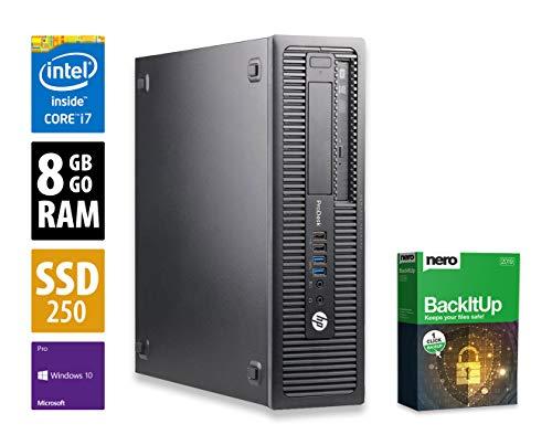 HP ProDesk 600 G1 SFF | PC | Computer | Intel Core i7-4770 @ 3,4 GHz | 8GB DDR3 RAM | 250GB SSD | DVD-Brenner | Windows 10 Pro (Zertifiziert und Generalüberholt) - 1 Hp Audio