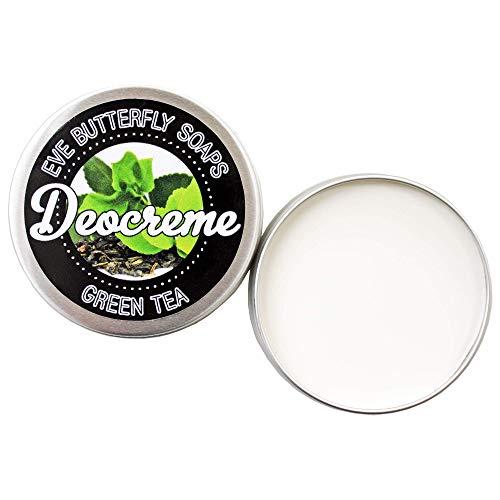Deocreme Green Tea - Travel Size 35 g | aluminiumfrei, Duft nach grünem Tee, vegan