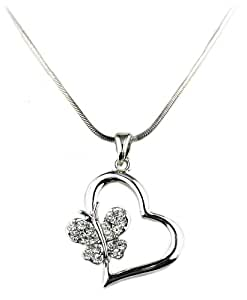 OMyGod Heart with Butterfly Pendant