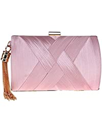 Amazon.it: Pochette Satin Rosa: Scarpe e borse
