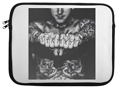Stay True Tattoo Boy Laptop Case 13