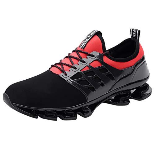 r Plus Große Laufschuhe Turnschuhe Running Fitness Sneaker Outdoors Straßenlaufschuhe Casual Sportschuhe - Viele Farben 36 EU-48 EU (Rot, 43 EU) ()