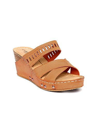 Carlton London Women Tan Brown Wedges