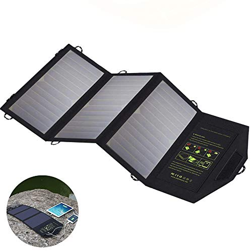SHENGY 5V 21W wasserdichtes Solar-Ladegerät, faltbares 2-USB-Solarpanel, Powerbank-Ladegerät-Batterie, für Smartphone Outdoor Camping