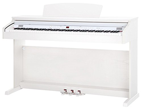 Classic-Cantabile-DP-50-WM-E-Piano-Digitalpiano-mit-Hammermechanik-88-Tasten-2-Anschlsse-fr-Kopfhrer-USB-LED-3-Pedale-Piano-fr-Anfnger-wei-matt