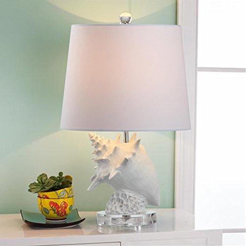 Tischleuchte Stoffschirm lila