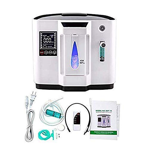 HUKOER Generador de concentración de oxígeno portátil Flujo 1-6L / min Generador...