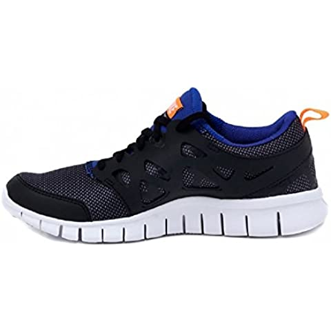 Nike Free Run 2 (GS) Laufschuhe black-white-total orange-game royal - 40