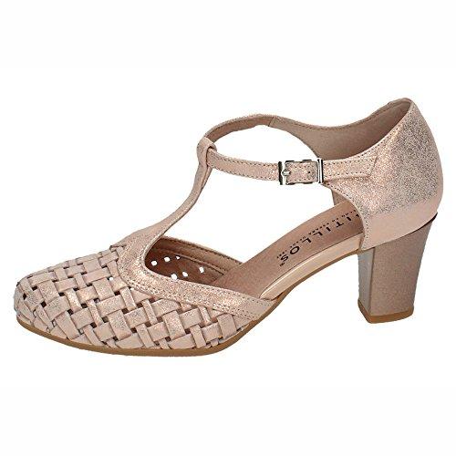 Pitillos 5057 Zapatos DE Piel Señora Zapatos Tacón Nude 36