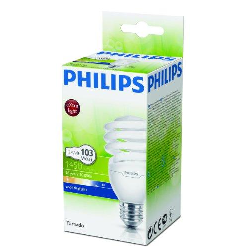Energiesparlampe Tornado EEK A 23 Watt 865 E27 - Philips - 2