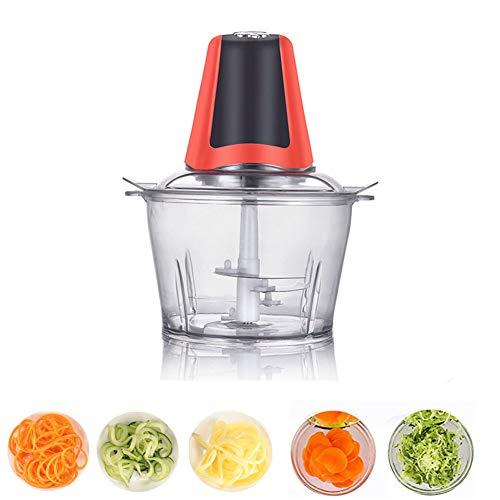 PENGPENGRAN Picadora de Alimentos eléctricos-picadora de Carne/licuadora / máquina de suplemento alimenticio - Frutas, Verduras/nueces / Hierbas/Ensalada de Cebolla