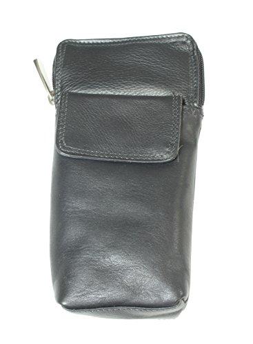 Qualitäts-weicher Leder-Spektakel / Glas-Kasten-Halter. Alle Schwarze Farbe