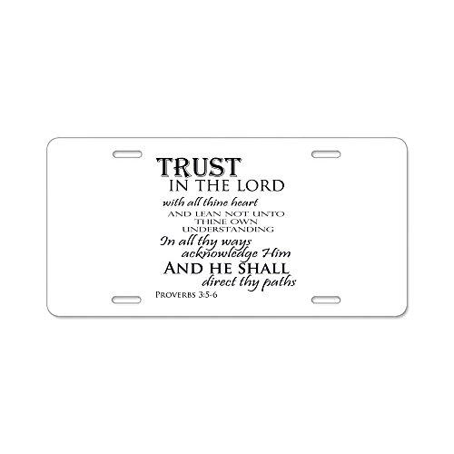 CafePress–Trust in the Lord–Aluminium Nummernschild, vorne Nummernschild, Vanity Tag
