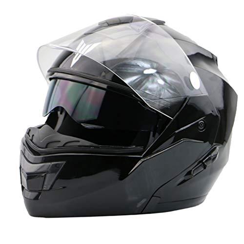 Casco integrale da motociclista per adulto, casco antiappannante a doppia lente per moto, protezioni fuoristrada per motocross 55-63cm