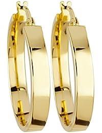 Bella Donna Damen-Creolen 375 Gold