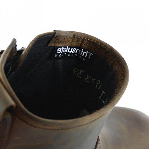 Sendra Boots 11973 Negro Engineerstiefelette mit Thinsulate Isolierung und Stahlkappe für Damen und Herren Schwarz Tang