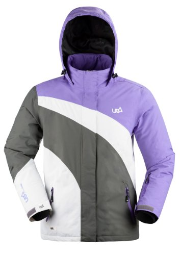 Urban Beach Damen Winterjacke Membrane, Violett, L, GA0207L (Urban Ski Hose)